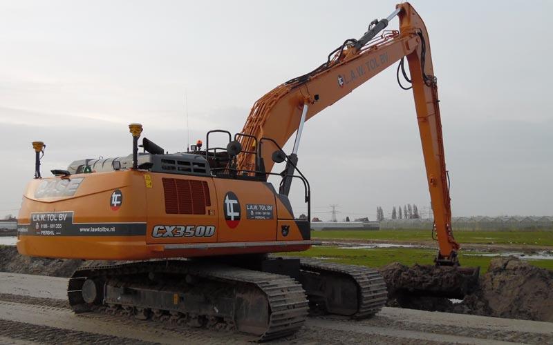 rupskraan 35 ton semi long front huren