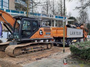 Rioolwerk CASE CX210D Rupskraan