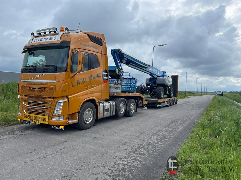 Hoogwerker transport