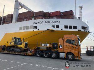 Vervoer bulldozer